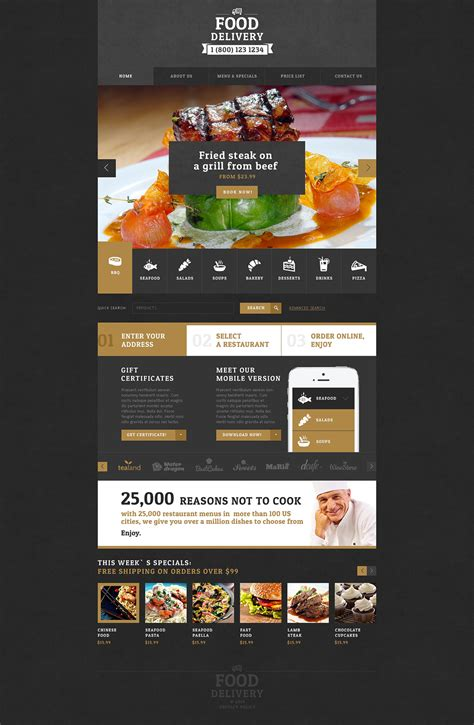 Delivery Services Responsive Website Template 48620 Food Delivery Website Templates Free