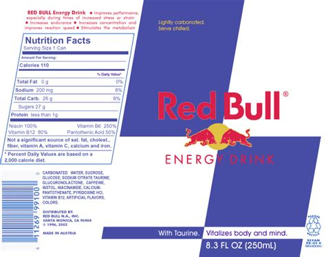 energy drink nutrition label why demi drinks bull romantique and rebel