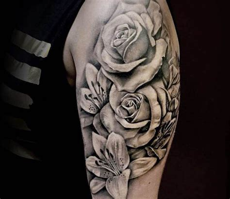 black and grey tattoo artists new york black and grey flowers tattoo by kris busching post 17101