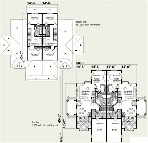 multi unit floor plans 100 multi family floor plans bedroom duplex s814d 3