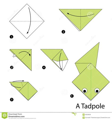 How To Do An Origami - step by step how to make origami a tadpole