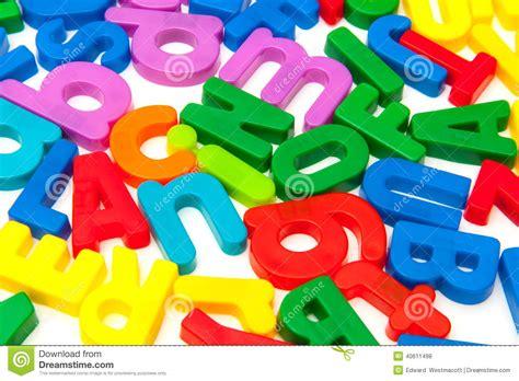 lettere plastica lettere di plastica luminose di alfabeto fotografia stock