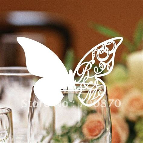 Butterfly Paper Place Card Lavender Isi 12 Pcs 120pcs customized name on the butterfly place wine