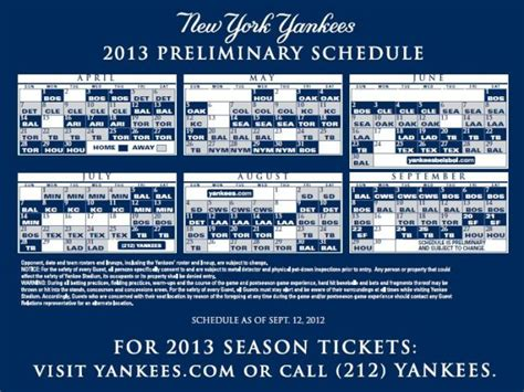 yankees printable schedule autos post