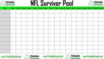 Office Football Pool Brackets Printable Nfl Em Football Pool Sheet Template Week 7