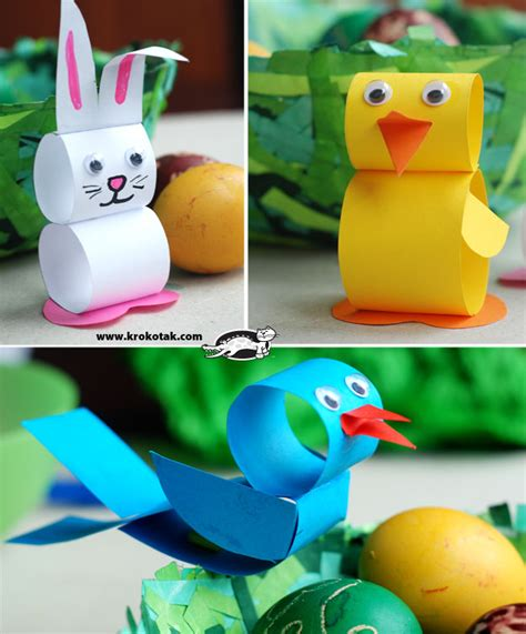 Paper Easter Crafts - preschool crafts for paper loop easter animals craft