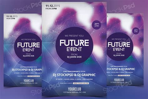 free download future event flyer template photoshop