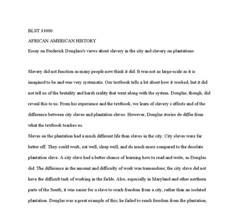 Slavery Today Essay by Essay On Frederick Douglass S Views About Slavery In The
