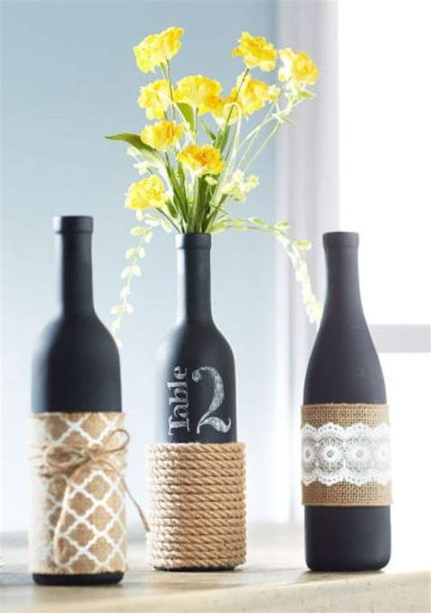 enjoy fall with 28 creative simple wine bottle crafts