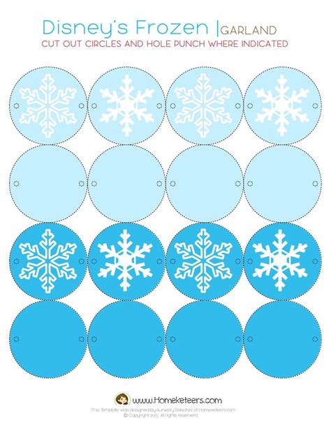 printable paper garland 27 best images about disney frozen birthday party ideas