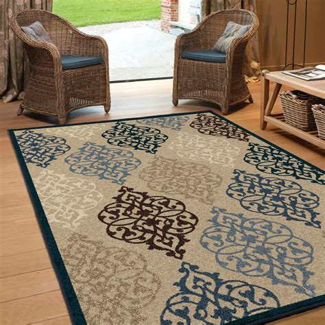 Large Indoor Area Rugs Orian Rugs Indoor Outdoor Scroll Hastings Multi Area Large Rug 1843 8x11 Orian Rugs