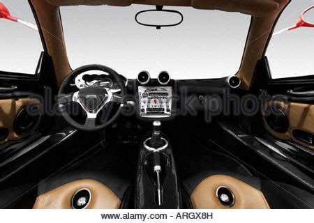 pagani gear shifter 2001 pagani zonda s in red front seats stock photo
