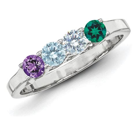 birthstone ring sterling silver s family