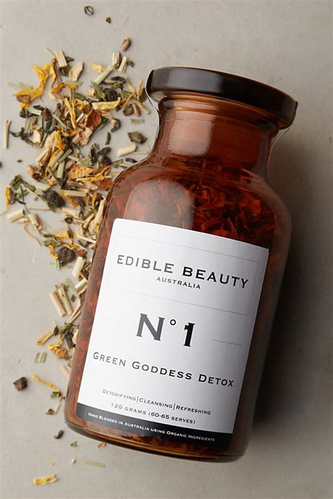 Whole Detox With Tapping by Edible Green Goddess Detox Tea Anthropologie