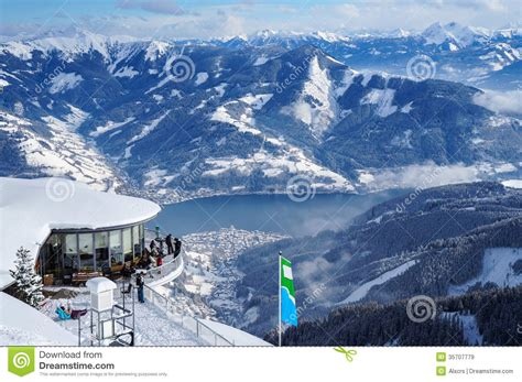 zell   editorial stock image image  high skiing
