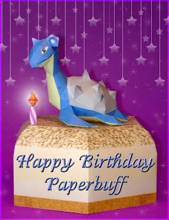 Papercraft Happy Birthday - paperpok 233 s pok 233 mon papercraft happy birthday paperbuff