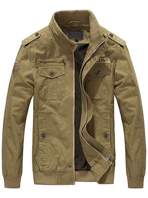 Khaki Jacket patch embroidered jacket for khaki jackets coats l