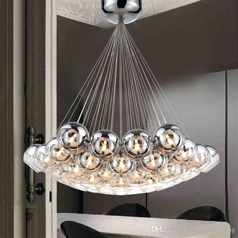 compre moderno lamparas de cristal colgante de bolas led
