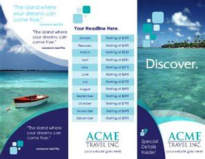 Free Printable Travel Brochures