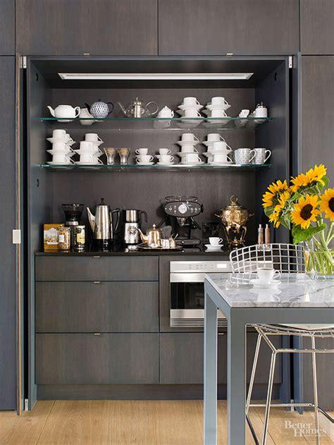 Kitchen Refrigerator Cabinet by Coffee Station Ideas