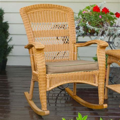 outdoor patio rocking chairs tortuga outdoor portside plantation wicker rocking chair