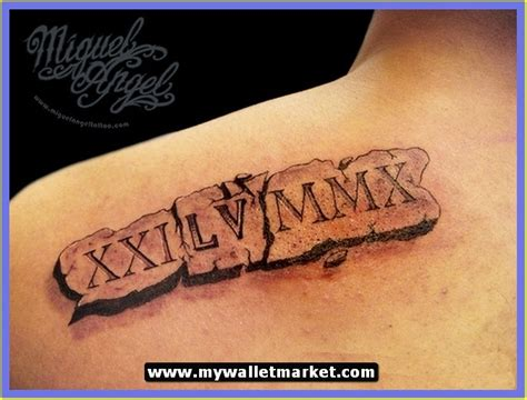 roman numerals tattoos for men the gallery for gt numeral spine tattoos for