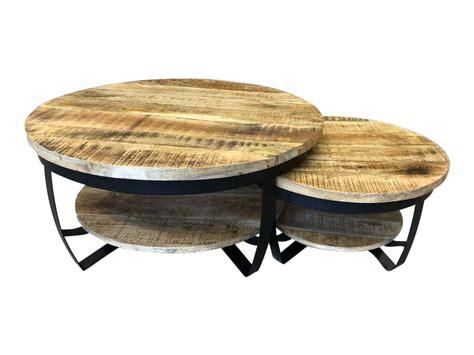 ronde salontafel sale ranger salontafels als set kopen 2 ronde mango