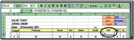 rumus fungsi membuat jurnal umum solusi praktis rumus dalam kolom kolom jurnal umum 22