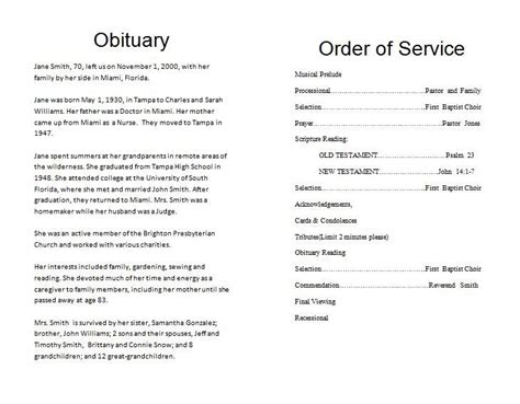 Funeral Order Of Service Outline How To Make A Memorial Program Template 171 Funeral Memorial Planning A Funeral Service Template