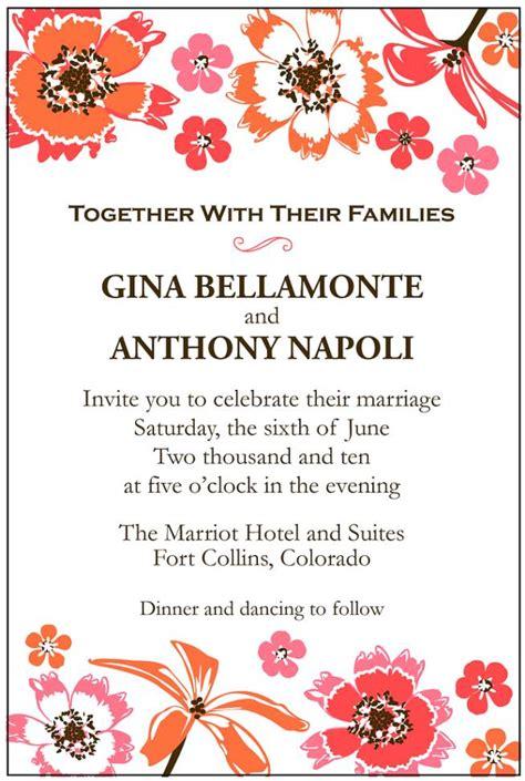second marriage wedding invitations second wedding invitation sles