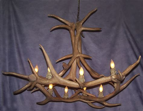 Elk Antler Chandeliers Antler Chandelier Reproduction Elk Antler Chandelier 9 Lights Rustic Lighting Ebay