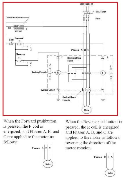 reversing motor starter schematic diagram elec eng world