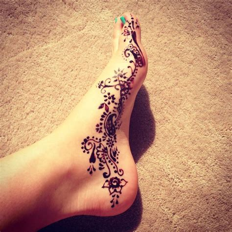 henna tattoo on foot tumblr 1 foot henna blank canvas