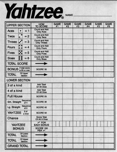 printable yahtzee score card yahtzee feuille junglekey fr image 100