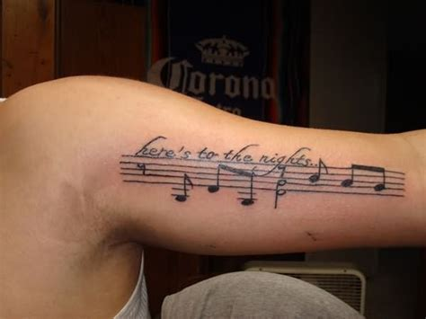 musical tattoos for men images designs