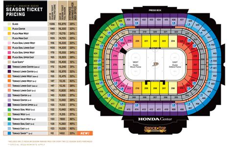 Anaheim Ducks Promotional Giveaways - ducks seating chart anaheim ducks seating chart honda center guide ratelco com