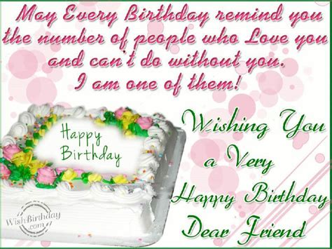 Happy Birthday Wishes To A Lost Friend Wishing You A Very Happy Birthday Dear Friend