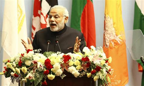 indian prime minister narendra modi delivers remarks to india will lead drive to increase regional trade says modi newspaper