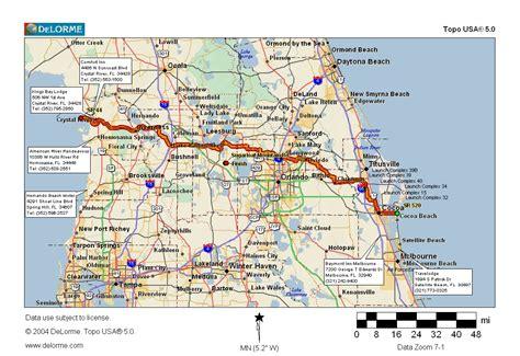 map of florida viera cycling routes crossing florida