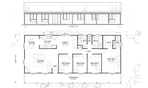 steel frame home floor plans gordon 4 met kit homes 4 bedroom steel frame kit home