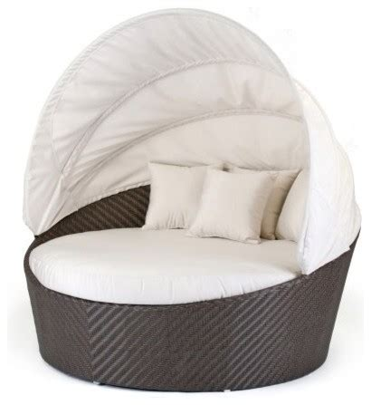 Caluco All Weather Wicker Round Moon Daybed Multicolor