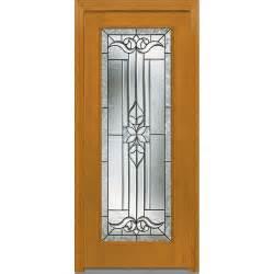 Decorative Glass Exterior Doors Mmi Door 37 5 In X 81 75 In Cadence Decorative Glass Lite Finished Fiberglass Mahogany