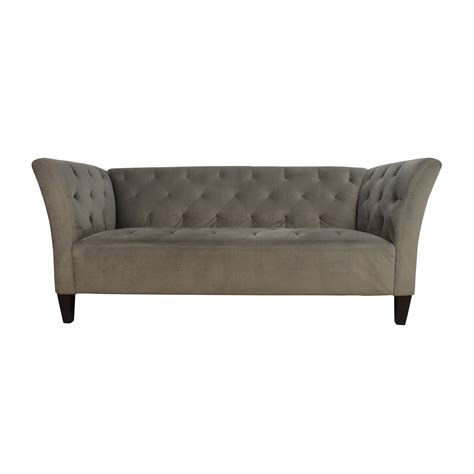 47 macy s macy s lizbeth gray button tufted sofa