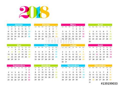 Calendrier 2018 Illustrator Quot Calendrier 2018 Quot Fichier Vectoriel Libre De Droits Sur La
