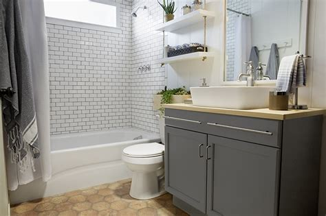 lowes bathroom design a builder grade bathroom transformation with lowe s