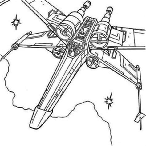 coloring page x wing star wars x wing colouring pages
