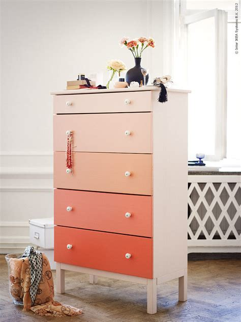 Paint Ikea Dresser | ombre diy dresser from ikea decor8