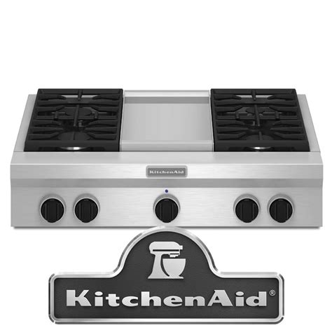 Commercial Cooktops Gas kitchenaid kgcu463vss 36 quot commercial style gas cooktop