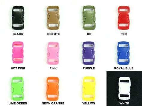 3 8 Color Mini Buckle Paracord mini 3 8 quot side release buckles for 550 paracord bracelets
