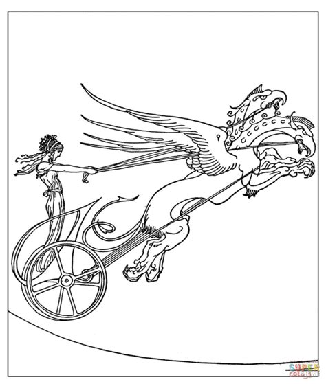 chariot template medea s chariot coloring page free printable
